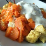 Möhrencurry mit Kressejoghurt