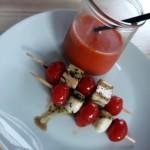 Kalte Wassermelonen-Paprika-Suppe