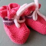 Gestrickte Babyschühchen 4/2013