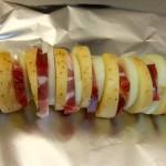 Kartoffelspieß mit Speck vom Grill