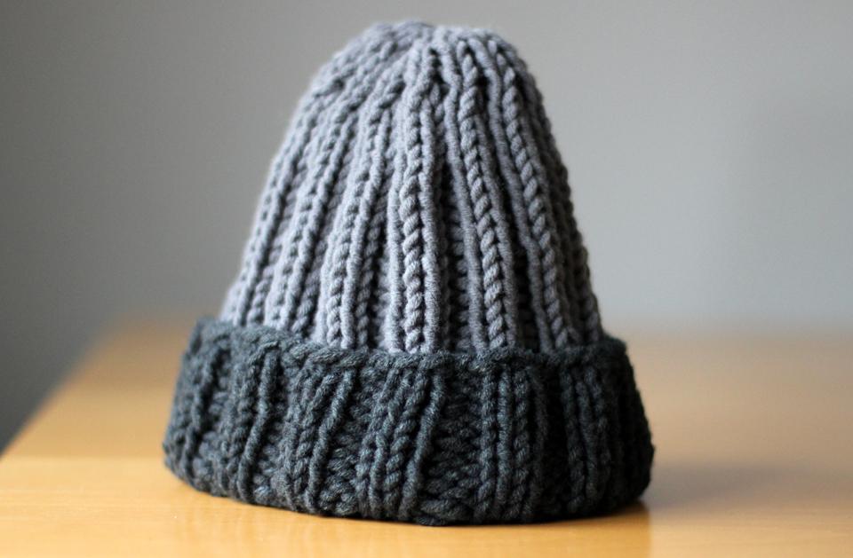 Selbstgestrickte Mütze