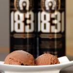 Schwarzbiereis mit Schokolade