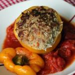 Gefüllte Paprika aus dem Ofen