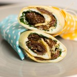 Wrap mit Tomate und Rucola by thecookingknitter.com