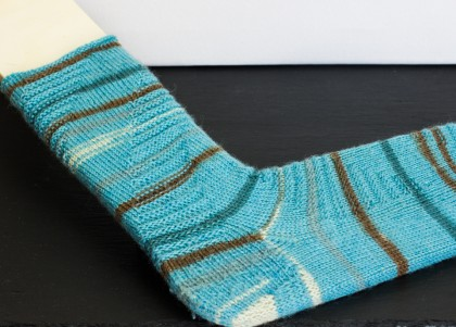 Hase im Hirn - Gestrickte Mustersocke by thecookingknitter.com