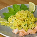 Twitterkocht Lachs an Bandnudeln by thecookingknitter.com