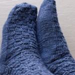 Socken kleinkariert
