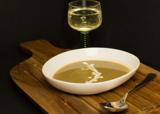 Maronensuppe mit Weißwein by thecookingknitter.com