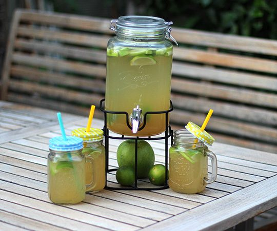Limetten-Apfel-Limonade mit Ingwer by thecookingknitter