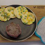 Pfannkuchen mit Erbsen und Mais