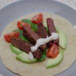 Wrap mit rote Beete-Falafel